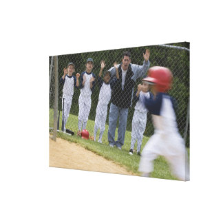 Baseball team canvas print