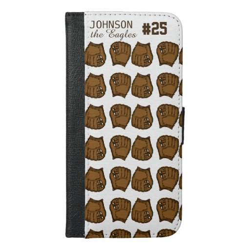 Baseball team custom mitt iPhone 6/6s plus wallet case