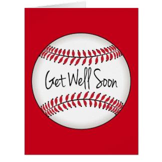 Baseball Team Get Well Soon Card