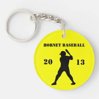 Baseball team keychain round acrylic keychain
