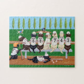 Baseball Team Labradors Jigsaw Puzzle