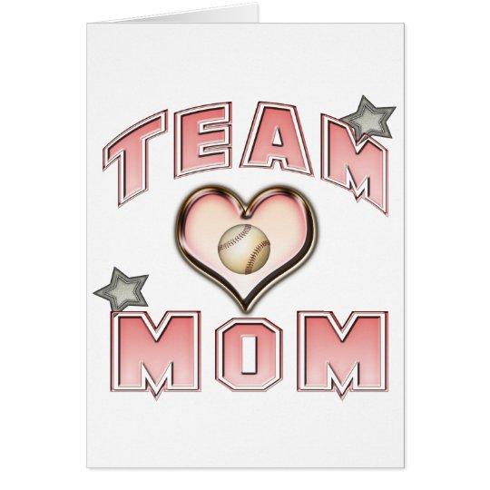 Baseball Team Mom Card