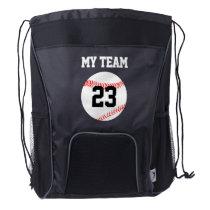 Baseball Team Name & Jersey Number Custom Backpack
