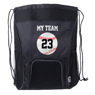 Baseball Team Name Jersey Number Custom Backpack