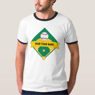 Baseball Team Name with Player Number 17 on Back T-Shirt