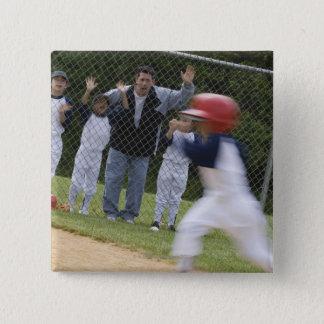 Baseball team pinback button
