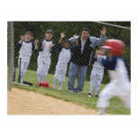 Baseball team postcard
