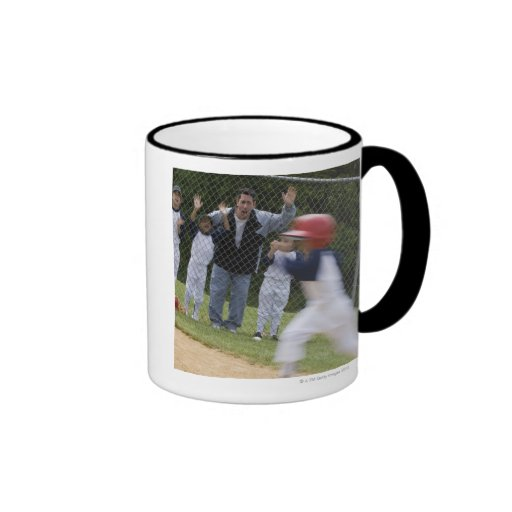 Baseball team ringer mug