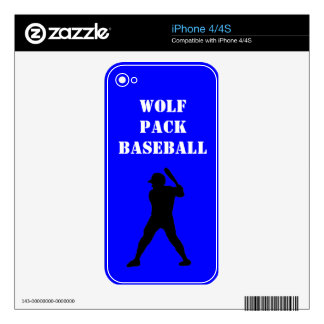 Baseball team spirit decals for the iPhone 4