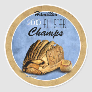 Baseball Team - Sports Classic Round Sticker
