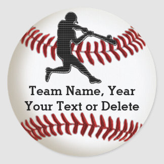 Baseball Team Stickers with Your Text or Delete