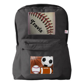 baseball team student school education classes american apparel™ backpack