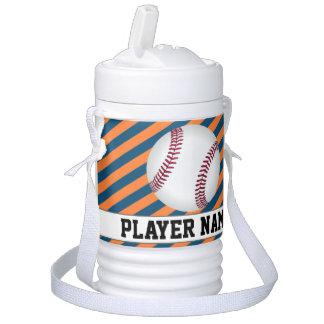 Baseball Tee-Ball Blue & Orange Team & Player Name Cooler