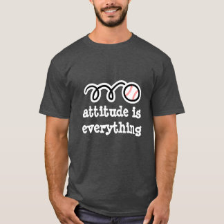 Baseball tee shirt with motivational quote