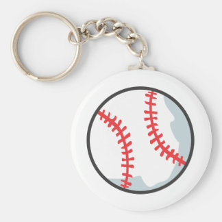 Baseball Tee Shirts - Custom Baseball Cartoon Tees Basic Round Button Keychain