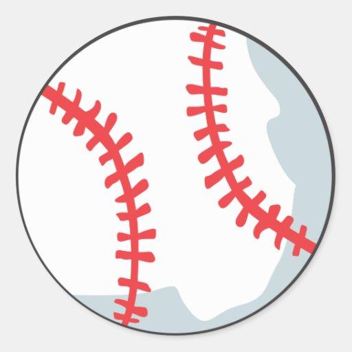 Baseball Tee Shirts - Custom Baseball Cartoon Tees Round Stickers