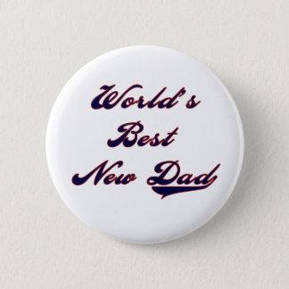 Baseball Text World's Best New Dad Button