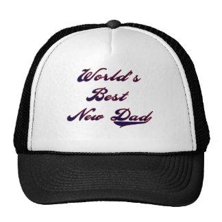 Baseball Text World's Best New Dad Trucker Hat