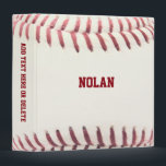 "Baseball Texture Personalized 3 Ring Binder<br><div class=""desc"">Head off to school,  work or practice with this Binder that makes your Baseball Fantasy come true. Customize with a name or team name,  or add text to the spine.</div>"