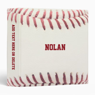 Baseball Texture Personalized 3 Ring Binder