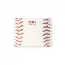 Baseball Texture Personalized Coach Post-it Notes