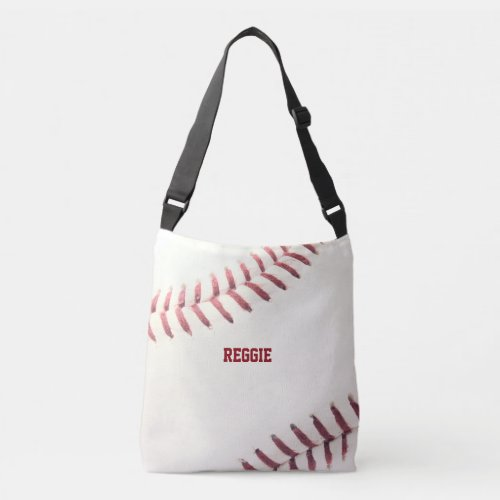 Baseball Texture Personalized Crossbody Bag