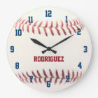 Baseball Texture Personalized Wall Clock