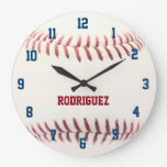 Baseball Texture Personalized Wall Clock