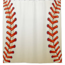 Baseball Texture Stitched Ball Look Shower Curtain