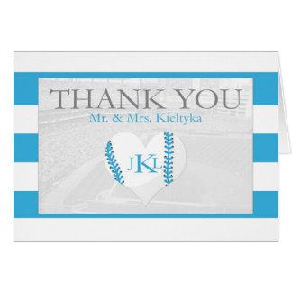 Baseball Thank You Greeting Card