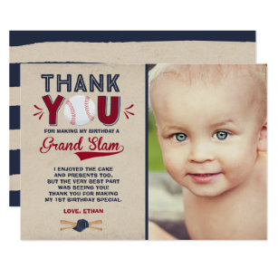 1st Birthday Thank You Cards Greeting Photo Cards Zazzle