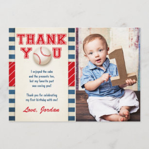 First Birthday Party Thank You Cards Zazzle