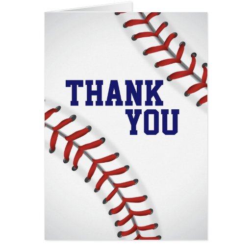 Baseball Thank You Note Card Zazzle