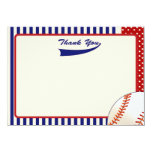 Baseball Thank You Notes 4.5x6.25 Paper Invitation Card