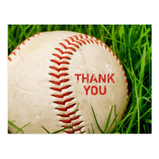 Baseball Thank You Postcard