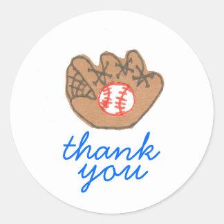 Baseball thank you sticker