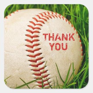 Baseball Thank You Stickers