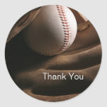Baseball Thank You Stickers