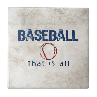 Baseball, That Is All Small Square Tile