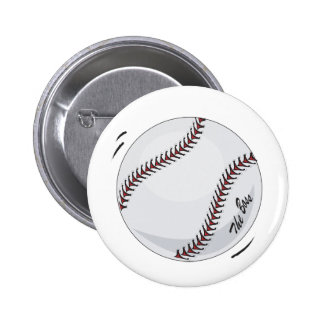 Baseball 'The Boss' ~  with editable background Pinback Button