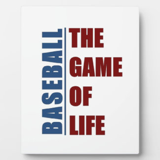 Baseball the game of life plaque