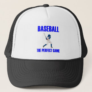 Baseball the Perfect Game Blue Print Trucker Hat