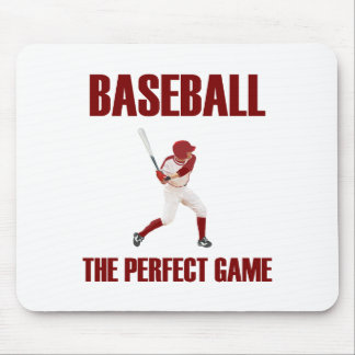 Baseball the Perfect Game Red Print Mouse Pad