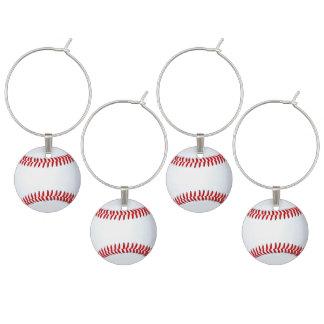 Baseball Theme Adult Party Ideas Wine Glass Charm