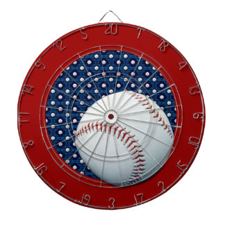 Baseball Theme Blue & White Dart Board Dartboard
