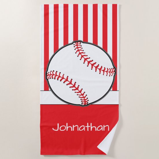 Baseball Theme | Personalized Beach Towel