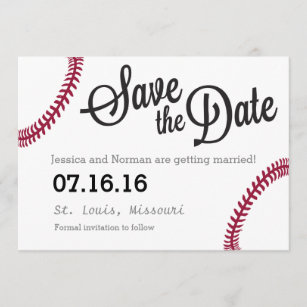 baseball save the date cards zazzle