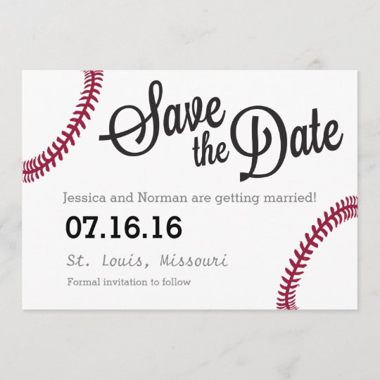 baseball theme save the date zazzle com