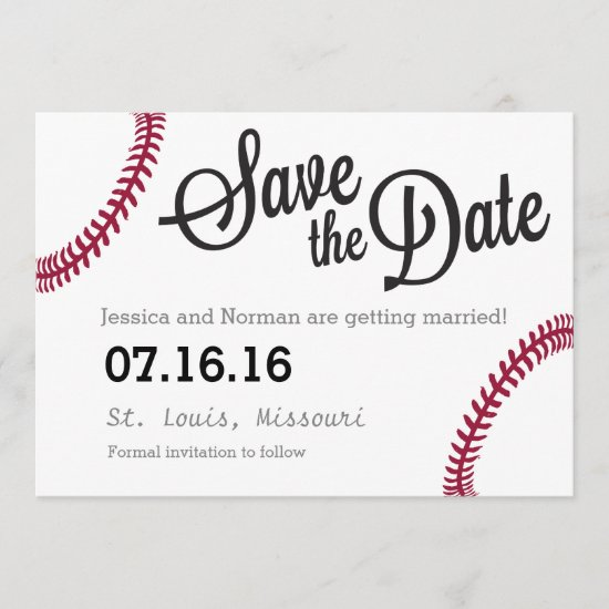 Baseball theme Save the Date