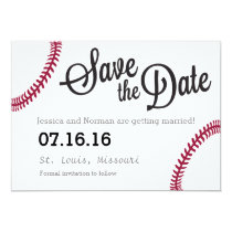 Baseball theme Save the Date Invitation